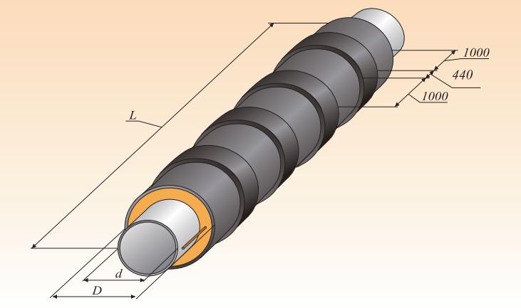 Труба ППУ с усиленной оболочкой