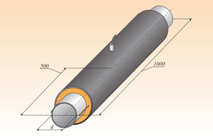 Элемент трубопровода с кабелем вывода